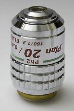 Nikon Plan ELWD CFN 20x 0.40 160/1.2 Ph2 DM Microscope Objective Phase Contrast
