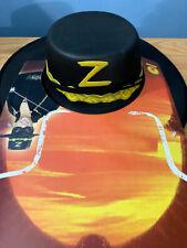 *New / Unused* Zorro Black Hat Adult Size Halloween Costume Antonio Banderas