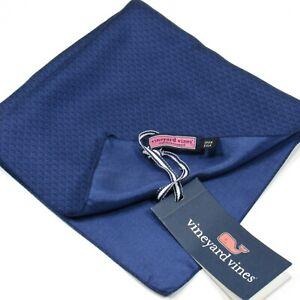 "Vineyard Vines Men's Pocket Square 16"" Mini Whales Printed Silk Navy NWT"