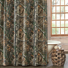 """Realtree Xtra Camouflage Fabric Shower Curtain 72"""" x 72"""" Outdoors Nature"""