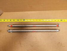 Bimba 0612-DXP Lot of 2 Stainless Steel Air Pneumatic Cylinders *FREE SHIPPING*