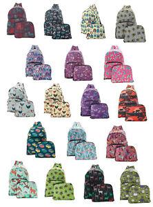 Eco Chic Foldable Backpack / Rucksack ~ Holds 15kg ~ Loads of Designs
