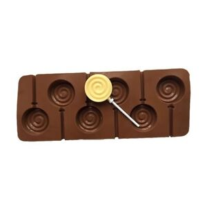 3PCS Baking Process Tool Chocolate Lollipop Cake Silicone Soap Jelly Ice Mold