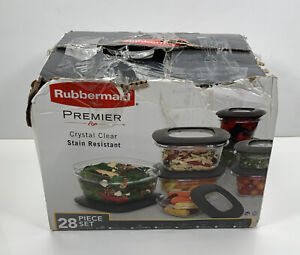 Rubbermaid Premier - Grey Storage Containers, 31 Piece Set (read)