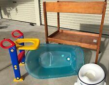 Baby/Toddler Items (Change Table, Bath, Potty, Toilet Ladder - Bonus Bottles)