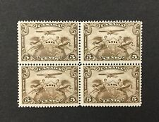 {BJ Stamps} CANADA, C1, 1928, 5¢ Airmail, block of 4. F-VF, OG, MNH. CV $110.