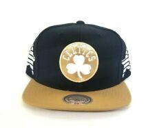 Mitchell & Ness Black / Wheat Boston Celtics Adjustable snapback Hat Cap