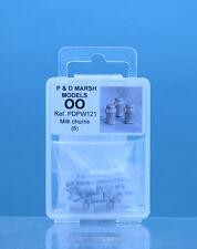 P & D Marsh PDPW121 Latte Bidoni (6) ' Oo' Calibro Non Dipinto Metallo Bianco