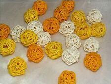Rebenkugeln Rattankugeln 24 St. Tischdeko Frühjahr Sommer gelb creme hell gelb