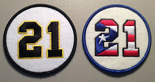 ROBERTO CLEMENTE RETIRED JERSEY NUMBER 21 PATCH LOT - PIRATES & PUERTO RICO