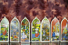 "Precious Moments- #PM890- ""Beatitude Ornament Series "" Window Replicas-7 pcs-NIB"