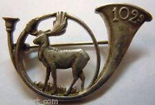 102° BCP 1940 Chasseurs à Pied insigne métal WWII authentique France
