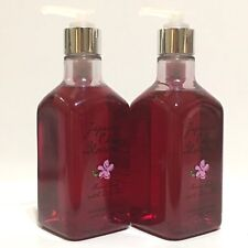 NEW 2 BATH & BODY WORKS JAPANESE CHERRY BLOSSOM HAND SOAP WASH OLIVE OIL 10 OZ