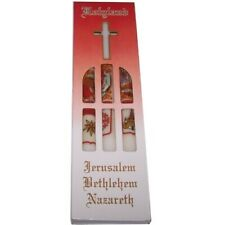 Holy Land Easter Candles - Marked with Jerusalem, Bethlehem and Nazareth