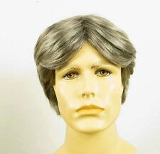 Perruque homme 100% cheveux naturel gris poivre et sel ref THIBAULT 44