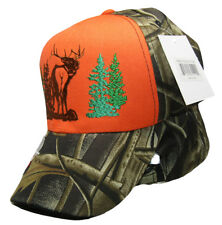 Born to Hunt Deer Orange Camo Camouflage Embroidered Hat Cap (RUF)