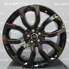 "GENUINE RANGE ROVER EVOQUE 20"" DYNAMIC GLOSS BLACK STYLE 6 / 504 ALLOY WHEELS X4"
