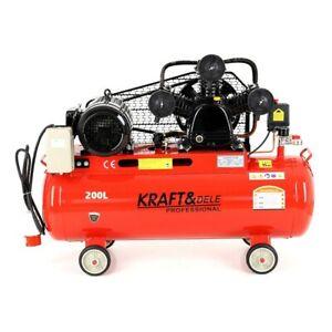 Druckluft Kompressor Kolbenkompressor 200 liter 4.8kW 720l/min 8bar 400V/50Hz
