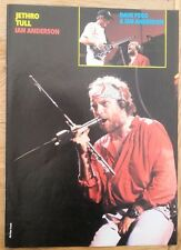 JETHRO TULL 'Ian in red' magazine PHOTO/Poster/clipping 11x8 inches