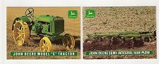1995 John Deere Model C Tractor, 145H Plow, 2 collector/trading card, #D13- #D14