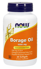 Borage Oil 1000mg Now Foods 60 Softgel