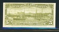 Argentina Rosario Port Specialized: Scott #143 5c Olive Green PLATE PROOF $$$