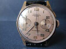 Vintage Eresco Chronograph Suisse Watch Gorgeous Dial