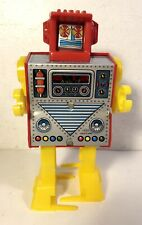 Vintage Wind Up Hiro Tin Sparking Space Jet Super Robot Toy Japan Works Yonezawa