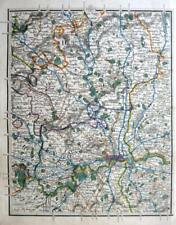 HERTFORDSHIRE MIDDLESEX LONDON WINDSOR  JOHN CARY GENUINE ANTIQUE MAP  c1822