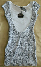 Wet Seal Medium Textured Pebble Mesh Back Dress Brand New Ships Free in US