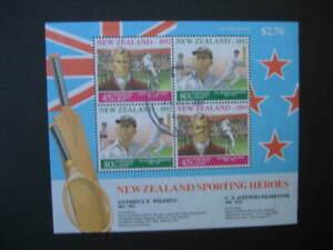 NEW ZEALAND USED MINIATURE SHEET-1992 HEALTH SG MS 1689