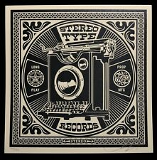 SHEPARD FAIREY ♦ Party At Moontower RECORDS sérigraphie SIGNEE ♦ OBEY GIANT MINT