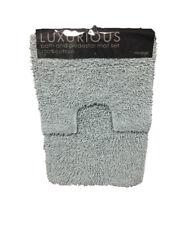 TUMBLE TWIST 100%25 Cotton Soft Bath & Toilet Pedestal Mat 2 Piece Bathroom Set