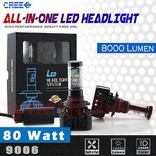 9006 80W Hi-Power LED Headlight Low Beam Light Bulb Xenon White 6000K Waterproof