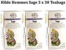 3 x 30 Tea bags Hilde Hemmes Sage Teabags ( 2.5g each bag ) ( 90 bags in total )