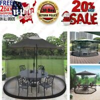 9FT Umbrella Table Screen Cover Mosquito Bug Insect Net Outdoor Patio Netting