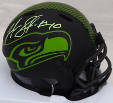 Josh Gordon Autographed Seahawks Black Eclipse Speed Mini Helmet Mcs 175772