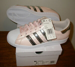 NIB Adidas Superstar W Pink/Silver FW5014 Sneakers Womens Sz 7.5