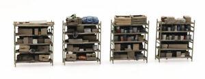HO Roco Minitanks Parts 4 Storage Shelves Hand Painted DP352.387.434