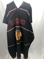 NHL Chicago Blackhawks Hockey Poncho Blanket Sweater Big Warm Perfect!