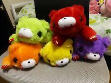 Gloomy Bear - Five Small Plush Toys - Yellow, Orange, Red, Green, Purple