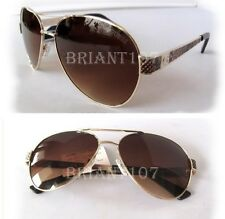 NWT GUESS GF0290 Womens Sunglasses Gold/Brown-snake- tiny scratch