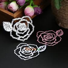 Rose Flower Metal DIY Cutting Dies Stencil Scrapbooking Album Cards Decor Crafts