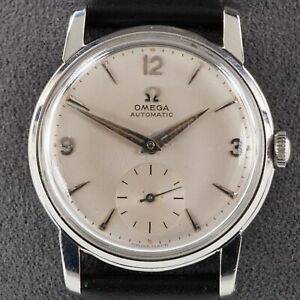 Omega Men's Stainless Steel Vintage Automatic Watch w/ Leather Band 2862