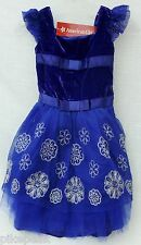 Ball Gown Party Dress by American Girl Sz 6 Snowflake Blue Rayon/Nylon/Polyester