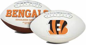 Cincinnati Bengals White Panel Logo Football