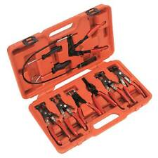 Sealey Hose Clip Removal/Removing Pliers Work Tool Set 9 Piece - VS1662