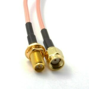 15cm to 300cm RP-SMA Female to RP-SMA Male Connector RG316 Coax Pigtail Cable UK