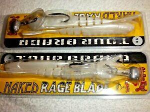 (LOT OF 2) STRIKE KING TOUR GRADE NAKED RAGE BLADE 3/8 OZ TGNRB38-84 PEARL WHITE