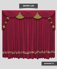Saaria Home Theater Curtain & Valance Movie Theater Decor 14'W x 8'H (HDCWV120)